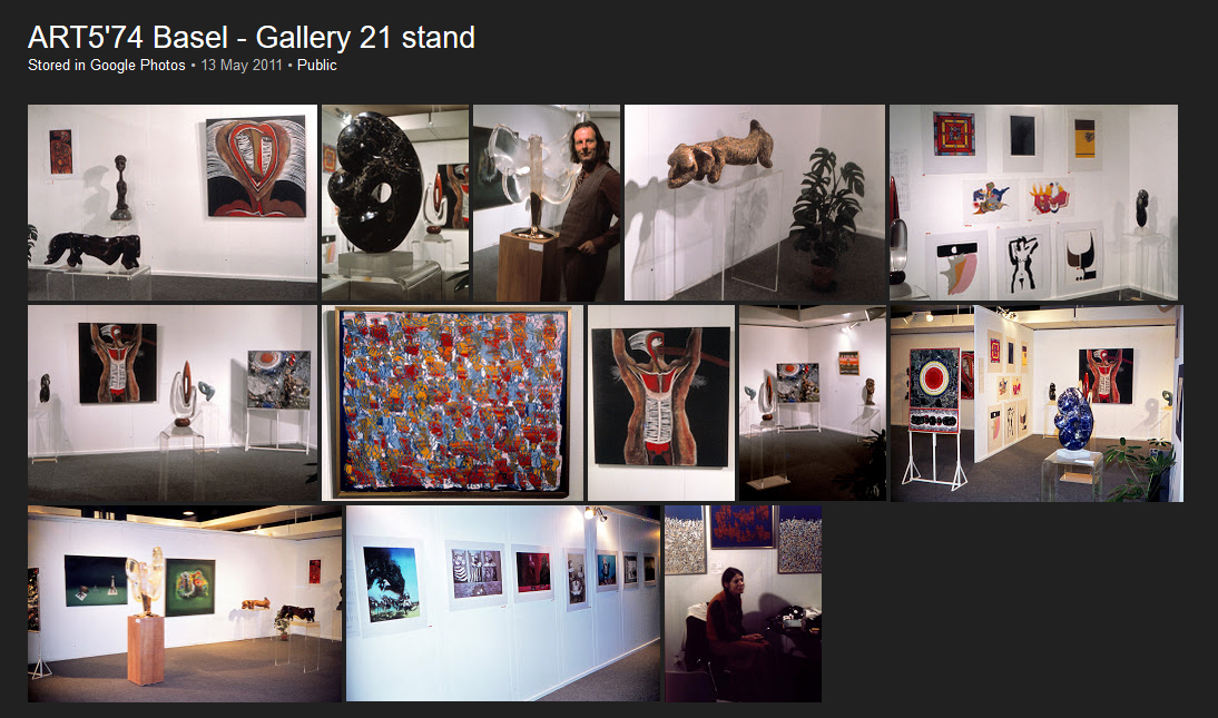 ART5'74 Basel - Gallery 21 stand - 13 views