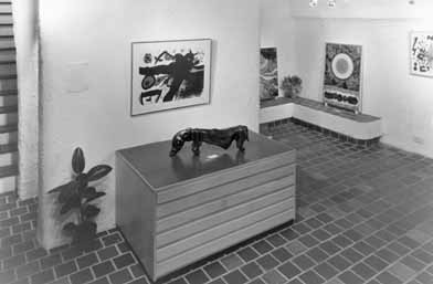 Gallery 21 London - Basement Gallery - 1974 - with works by SITHOLE, BALDINELLI and Joan MIRO