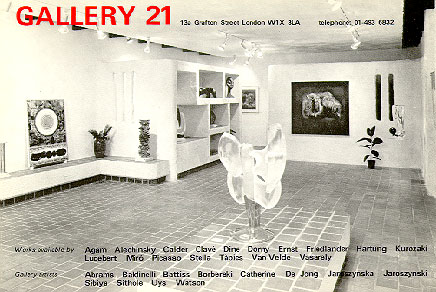 Gallery 21 London - artists in stock 1975
